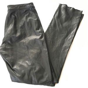 Wilson Maxima Leather bikers high rise skinny pant